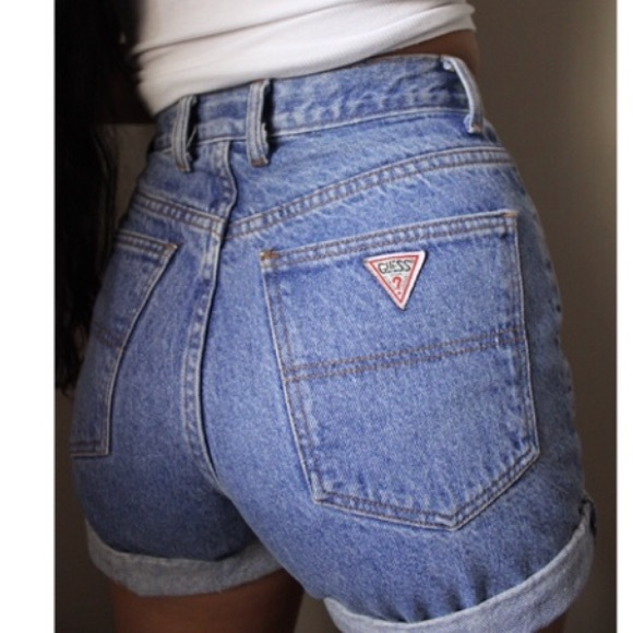 e7afcc696b65b Guess by Marciano Pants - Authentic Classic Vintage 90's Guess Jean Shorts